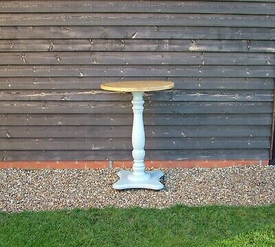 Round Top Tall Standing Pub Restaurant Cafe Table With Pedestal Base
