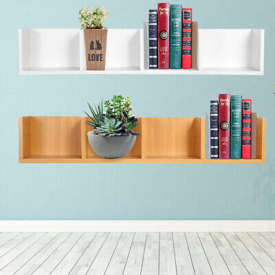 Wall Shelf Floating Shelves Storage 4 Grids Wall Mount Display Bookshelf Unit