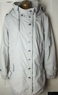 NEXT Light Beige Quilted Effect Thick Warm Winter Coat Size UK 18