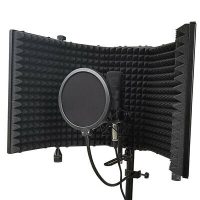 Tabletop Microphone Isolation Shield Sound Absorbing Foam Studio Vocal Recording