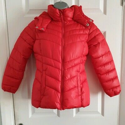 NEXT Girls Red Padded Puffer Winter Coat Jacket age 11-12 / BNWT