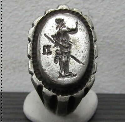 ** PAX ** Ancient Silver Legionary Roman Ring ** AMAZING **