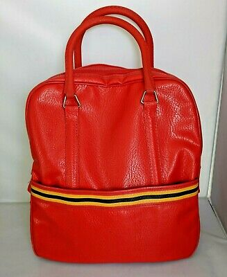 Vintage Amelia Earhart Luggage Carry On Travel Bag Overnight Tote Yellow Stripe