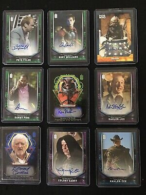 Dr Who Topps Autograph/Signature Cards Lot