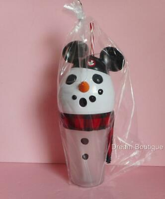 Disney Parks Christmas Holiday Mouseketeer Snowman Mickey Light up Sipper Cup