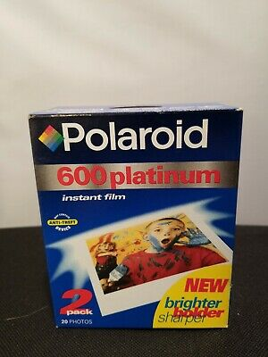 Brand New Polaroid 600 Platinum Instant Film 2 Pack 20 Photos Expired 08/99