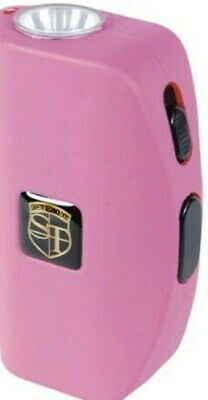 POLICE Stun Gun 911 Pink 18 MV Rechargeable With LED Flashlight Max Amperage NEW