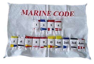 Nautical Sailboat Boating Signal Code FLAG - Set of Total 14 with CASE COVER