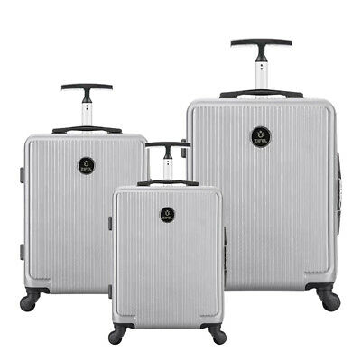 3Pcs Luggage Set Travel Bag ABS Trolley Spinner Suitcase With Lock (20, 24, 28)