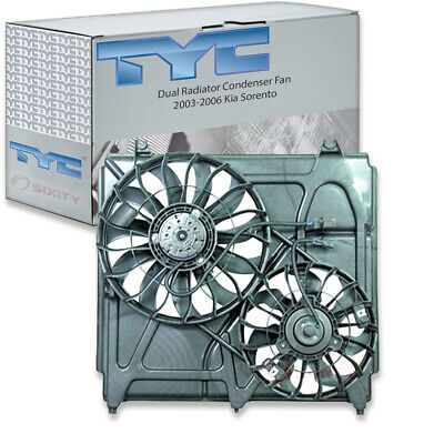 TYC Dual Radiator and Condenser Fan Assembly for 2007-2014 GMC Sierra 2500 yw