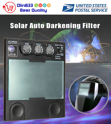 Solar Auto Darkening Big View Area 4 Arc Sensor Helmet Lens TIG MIG Filter Mask