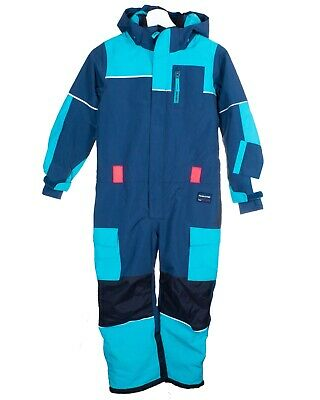 POLARN O. PYRET KIDS WINTER PADDED OVERALL Blue 7-8 Years