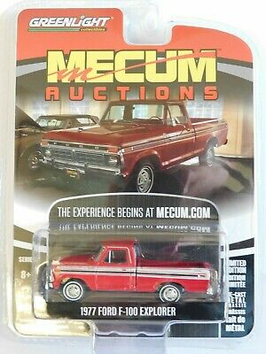 1977 Ford F-100 Explorer  Red *** Greenlight Mecum Auctions 1:64 NEU+OVP