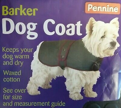 Green Waxed Cotton Dog Coat - Various brands and sizes