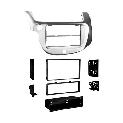 For Honda Fit 2009-2013 Metra 99-7877S Single/Double DIN Silver Stereo Dash Kit