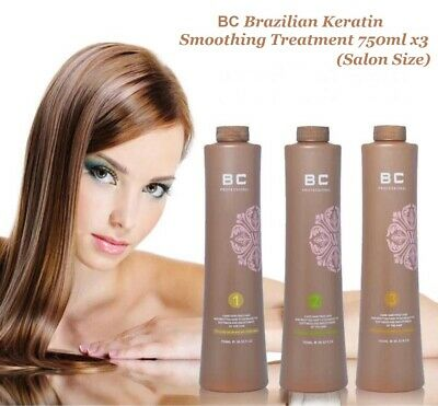 BC Brazilian Keratin Smoothing Treatment 750ml  X3 Salon Size