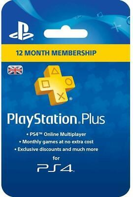 Sony PlayStation Plus 12 Month Membership UK ONLY PAL