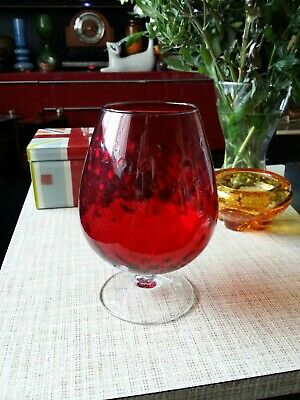 Cat And Mouse Brandy Glass.... large.. 8 inches high...
