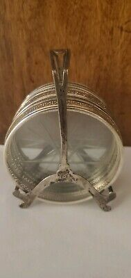 Wallace Sterling silver Coaster Set 6 And sterling silver Holder