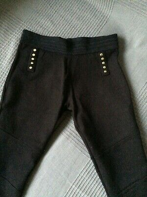 Girls Next Black Trousers Age 9 Great Condition