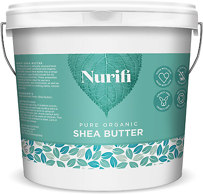 1KG Organic Shea Butter Unrefined - 100% Pure, Raw & Natural - Soil Association