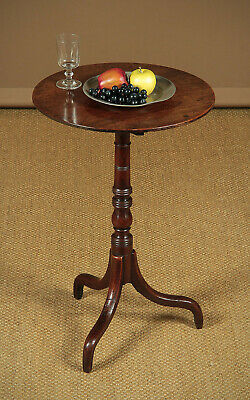 Antique Georgian Mahogany Tripod Wine Table c.1800.