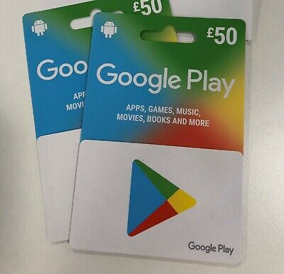 Google Play Gift Card - £100 - BARGAIN!!