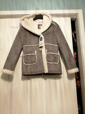Girls Age 8 Hatley Fleece Lined Winter Jacket Brand New With Tags
