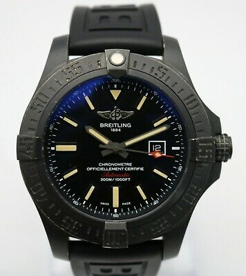 Breitling Blackbird Avenger V17310 Men's Sapphire Watch with Box & Papers