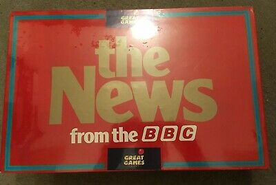 """Vintage New Sealed Board Game """"The News From The BBC""""  Great Games Company 1987"""