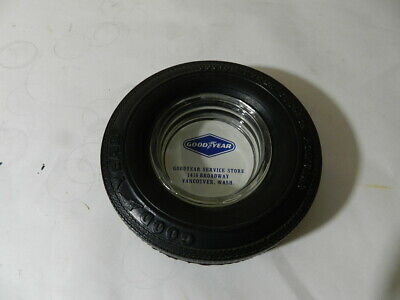 Vintage Goodyear Tire Advertising Ashtray- Vintage Service Station- Gas & Oil