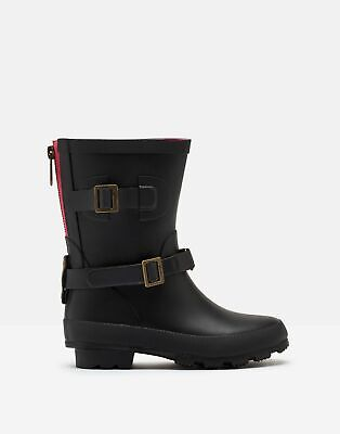 Joules Girls Biker Wellies in TRUE BLACK