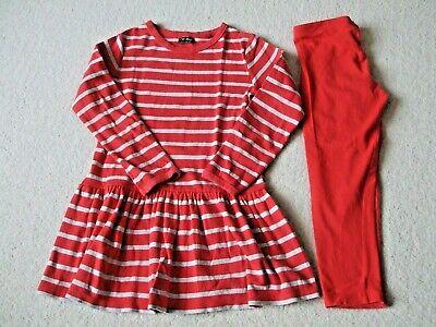 Girls Dress And Leggings - Age 9 - Next - Red