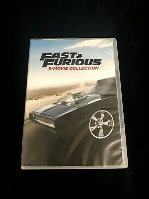 Fast and Furious: 8-Movie Collection DVD 9-Disc Set With Bonus Disc