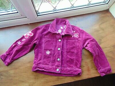 Gorgeous **PINK JACKET** Girls 3-4 years Embroidered Flowers Pretty Coat