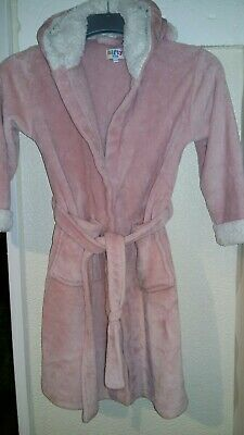 Girls Dressing Gown age 5 - 6 years  ..Pink. .Nifty Kids..rabbit hood..