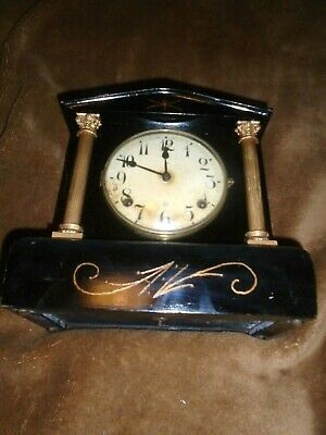 Antique Wooden Cased,W.m.l.gilbert, (Conn) Mantle Clock