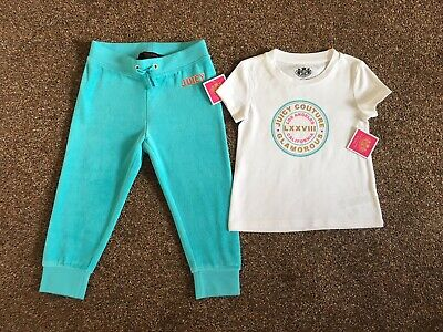 Girls Juicy Couture Two Piece Suit, Age 2-3, Brand New