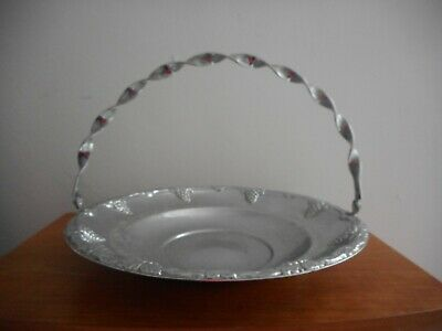Vintage Silver Plated Serving Dish With Handle