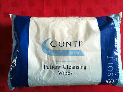 2 Packs Conti Patient Cleansing Soft Large Total 200 Wipes Shiloh Healthcare
