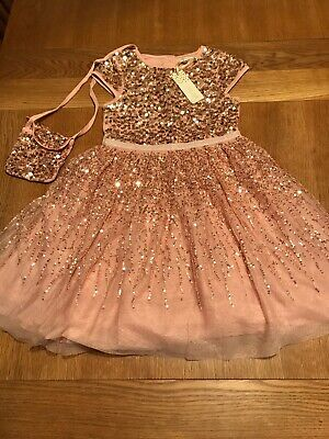 Primark Pretty Sequin Girls Party Dress Size 7-8 Years