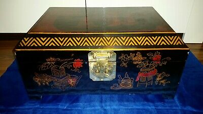 Chinesische Truhe Lack-Truhe Chinese Lacquer Chest 45*30 cm