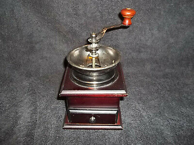 Wooden Vintage Antique Manual Coffee Bean Spice Herbs Mill Hand Crank Grinder