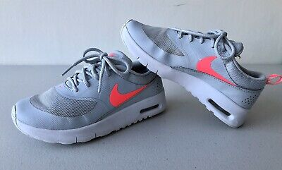Girls Nike Air Max Thea Grey Pink Trainers Shoes Size Uk 1