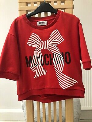 Moschino girls red bow top age 10