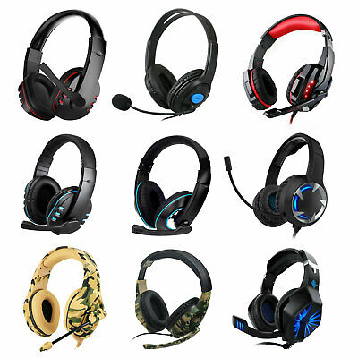 9 Style Pro Gamer Gaming Headset Mic Headphones For PS4 Xbox One Laptop Computer