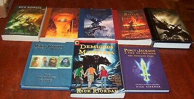 8 Percy Jackson & the Olympians Books Full Set 1-5 + 2 Specials & Guide Lot
