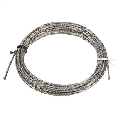 Stainless Steel Wire Rope Cable 1.5mm Dia 4M 13ft Length 16 Gauge Hoist Pulley