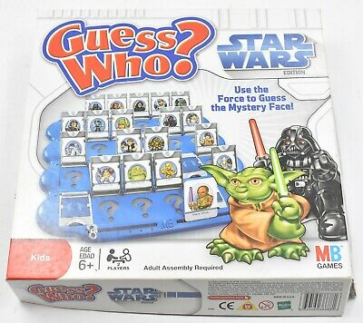 Guess Who ? Star Wars Milton Bradley 2008 100% Complete Face Guessing Game