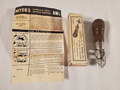C.A. Myers Co. Combination Sewing Awl Kit for Leather, Saddles, Shoes & Cattle